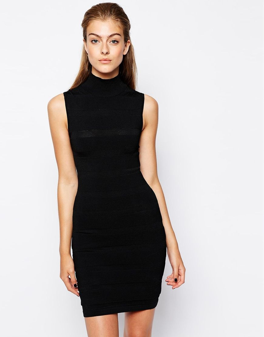 High Neck Sleeveless Dress