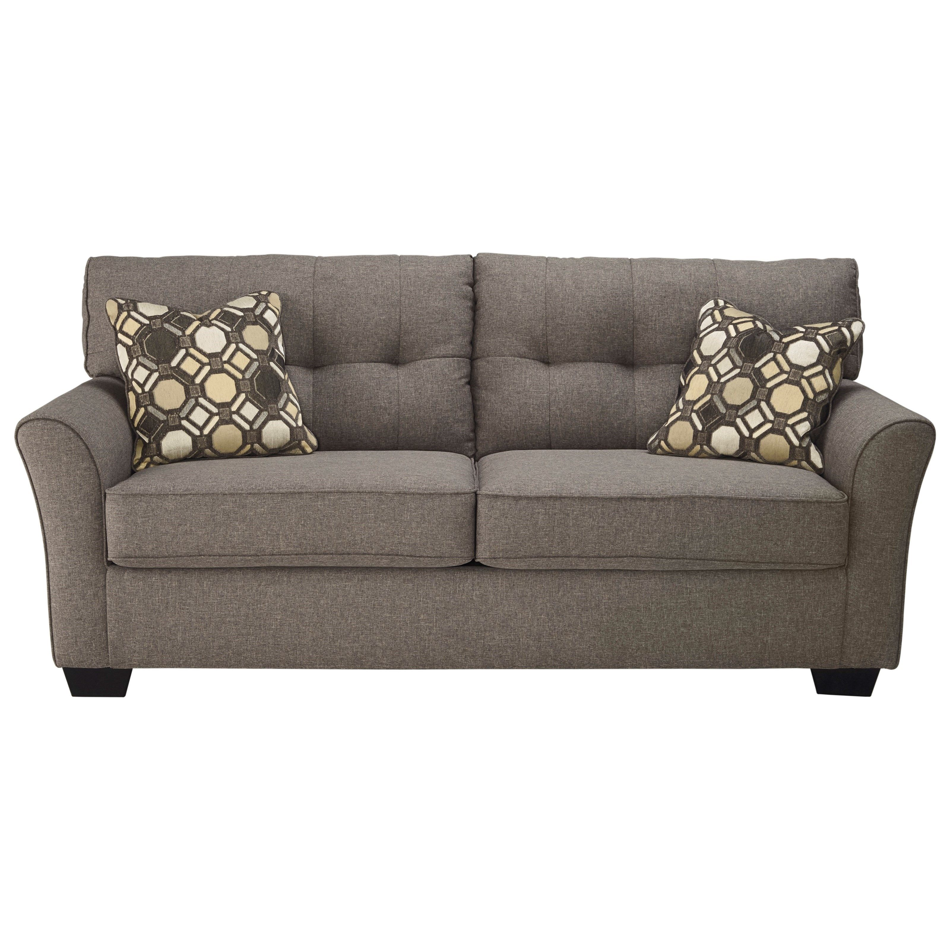 Heathered Gray Fabric Sets A Sophisticated Tone For This Sofa At 78 Inches Wide Its Moderate Scale Works Well In Smaller Es