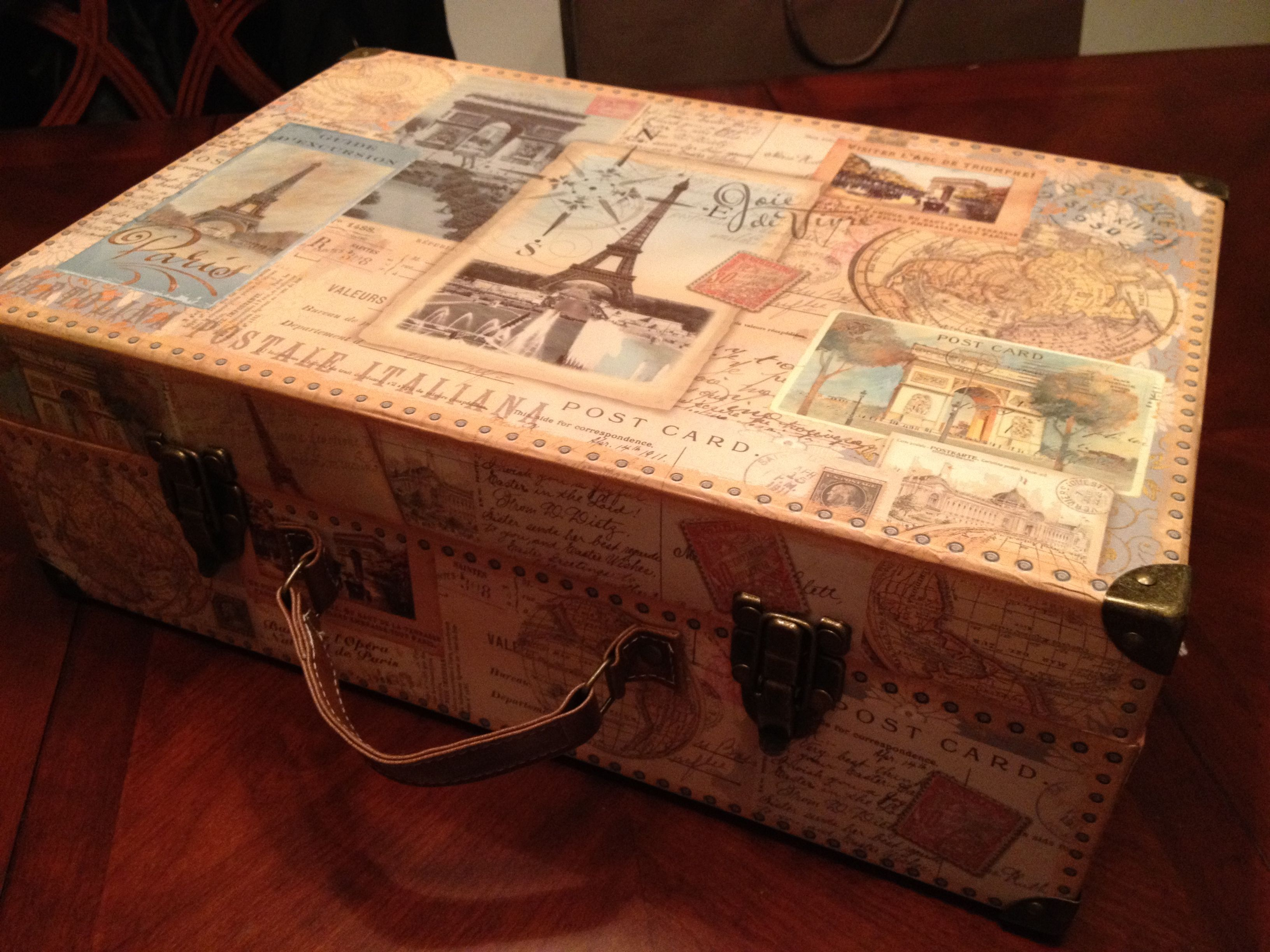 Vintage Decorative Suitcases Michaels Cardboard Luggage Box Travel Themed Home Decor