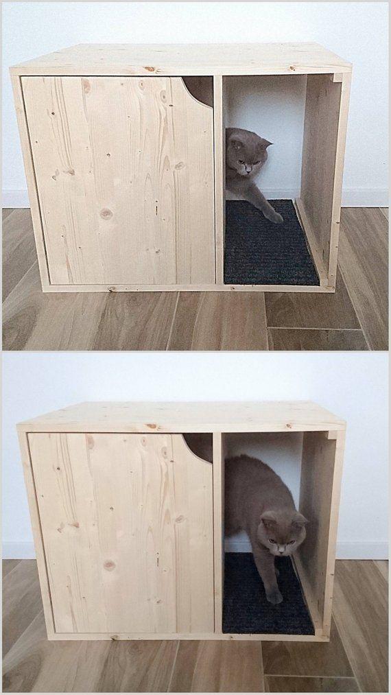 Cat Litter Box Cover, Pet Furniture, Cat House, Modern Litte …
