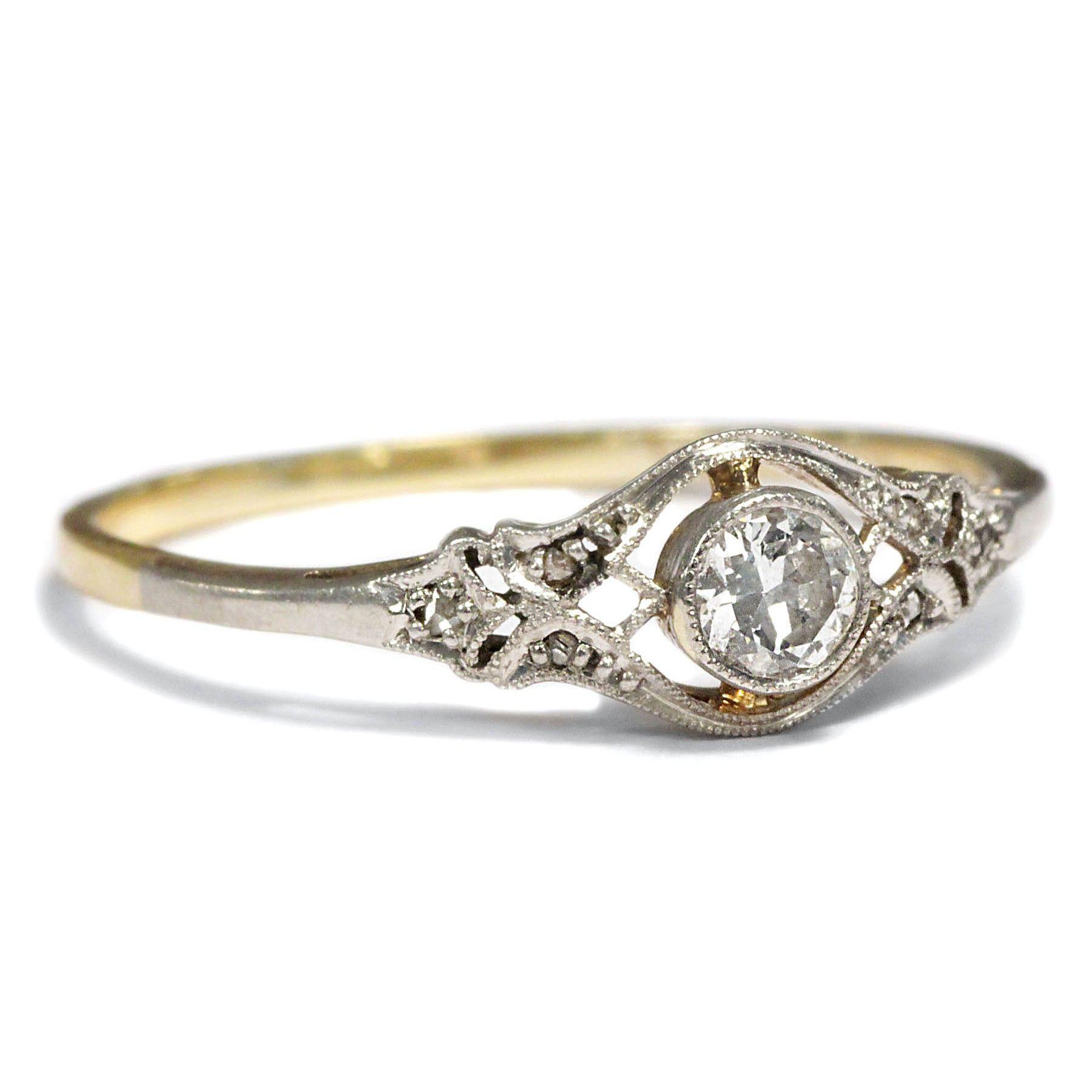 Ein Lieblingsstück - Antiker Verlobungsring DIAMANT RING, Jugendstil ...