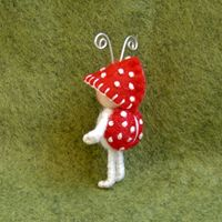 Toadstool Bug 1 1/2 inches tall  $18.00