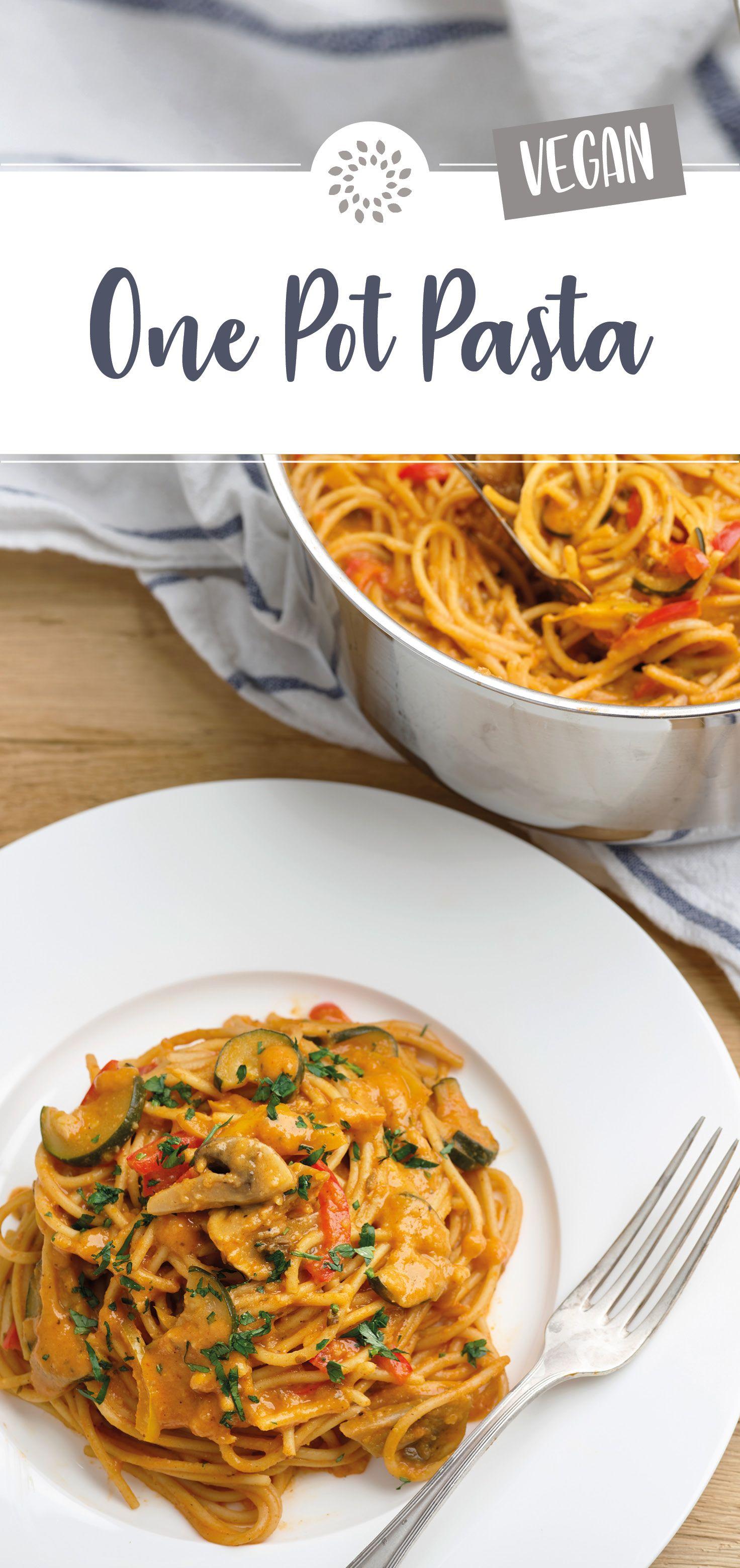Der Name One Pot Pasta bezeichnet ein wahrlich köstliches Nudelgericht, das zusammen mit allen anderen Zutaten in nur 10 Minuten in einem Topf zubereitet wird. #easyonepotmeals