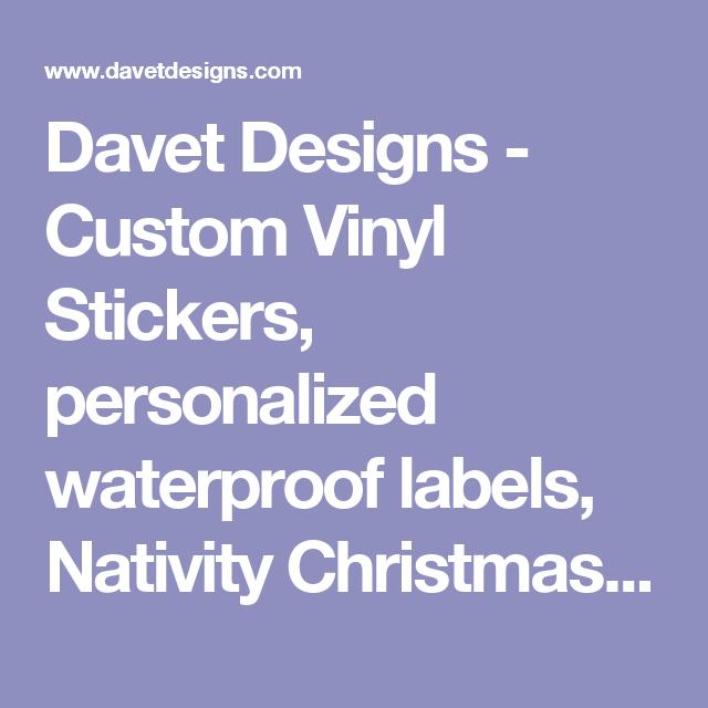 Davet Designs Custom Vinyl Stickers Personalized Waterproof - Custom vinyl stickers waterproof
