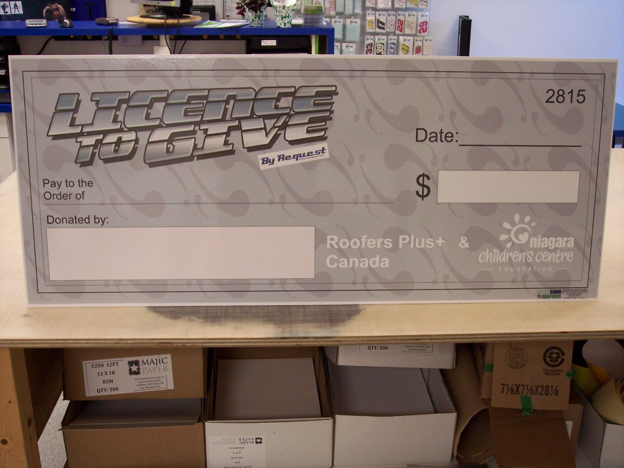 Dry Erase Promotions Cheque Www Greatsigns Ca Wide Format Printing