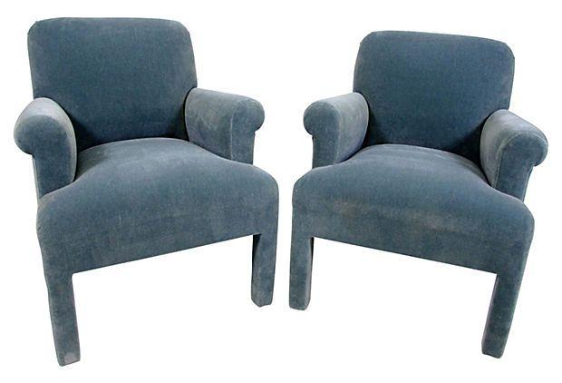 Correction! A John Hutton design for Donghia. Mohair Armchairs by ...