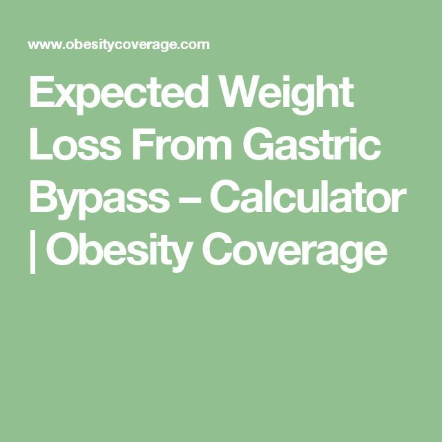 Expected weight loss from gastric bypass  calculator obesity coverage also rh pinterest