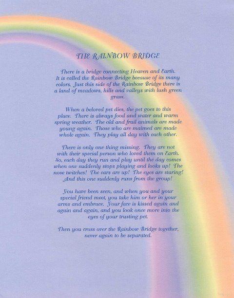 Rainbow Bridge Poem Rainbow Bridge Poem Rainbow Bridge Rainbow