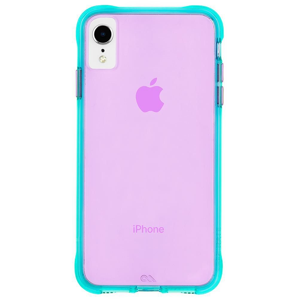 Case-Mate iPhone XR Tough Neon Turquoise Purple Neon ...