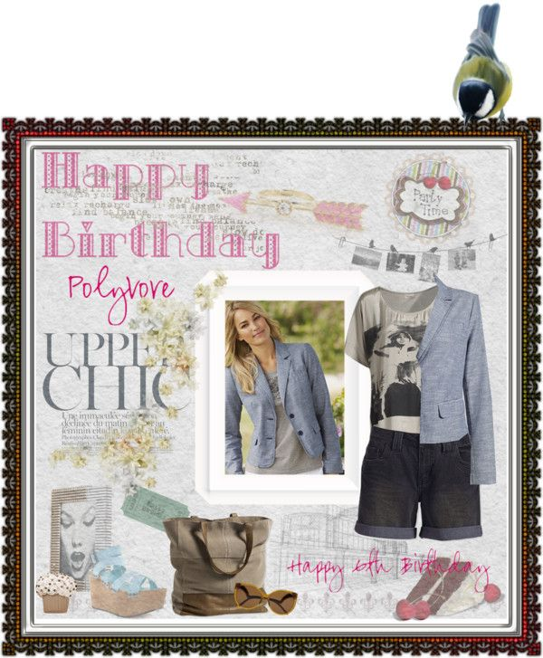"""""""Happy Birthday Polyvore"""" by lizart ❤ liked on Polyvore"""