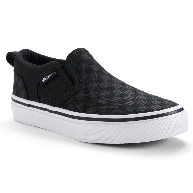 b62b173e5b7589 Vans Asher Boys  Checkered Skate Shoes