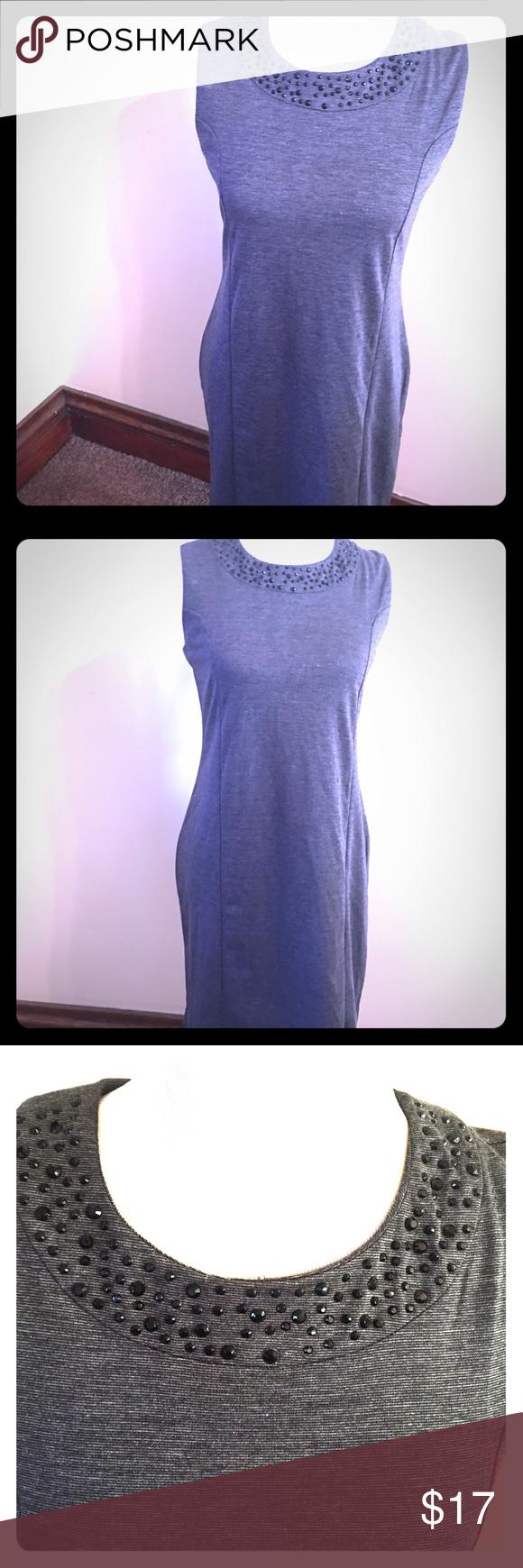 🕶Gray knit shift dress