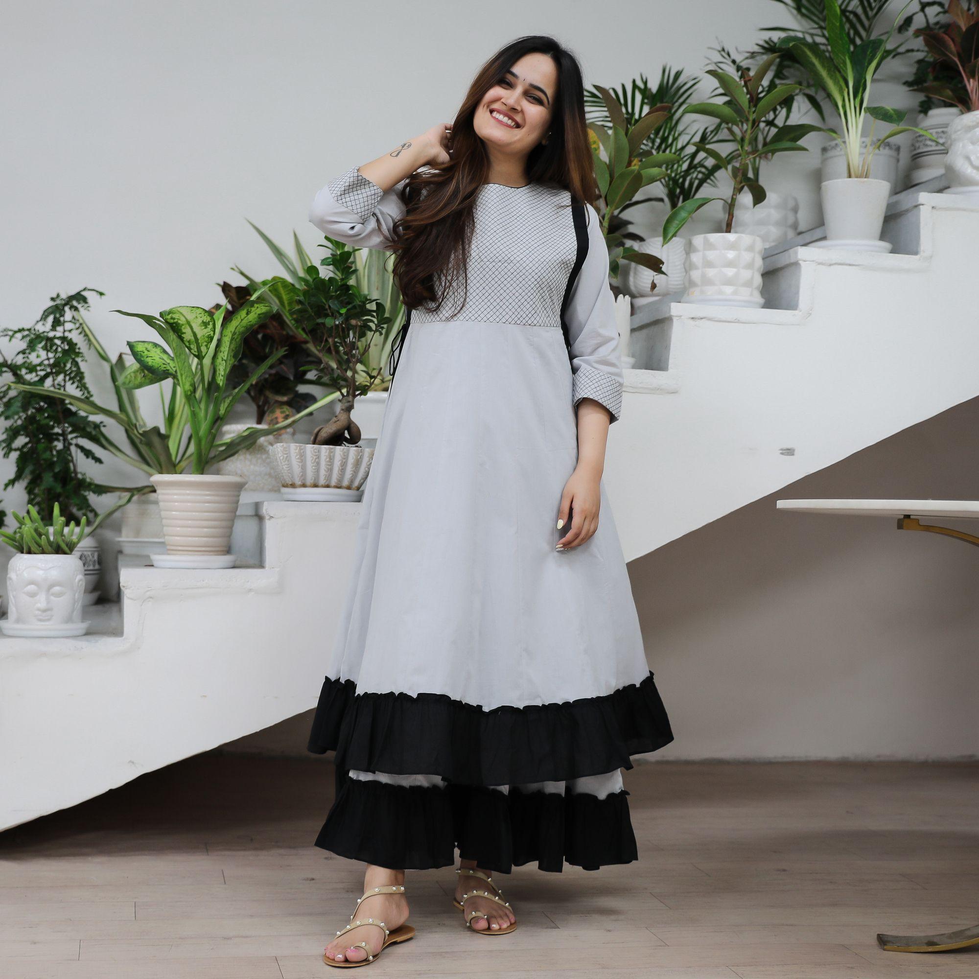 Black cotton dresses, Indian gowns dresses