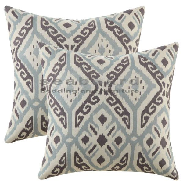 Show Off Your Traditional Sophistication When You Accent With The Coaster 905336 Blue And Brown Ikat Pillows Whether Add Them To A Sofa