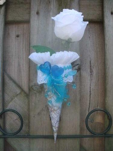 Flower cone bouquet.