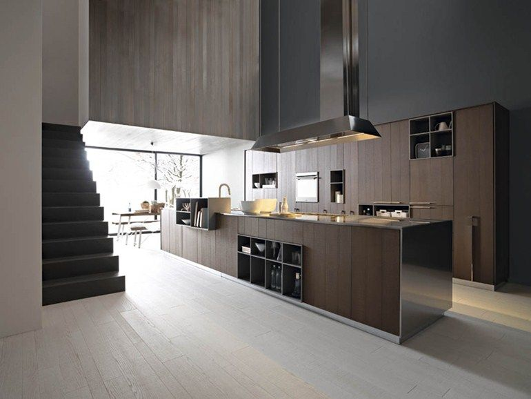 Cucine Cesar Moderne.Fitted Kitchen With Island Kalea Composition 1 By Cesar