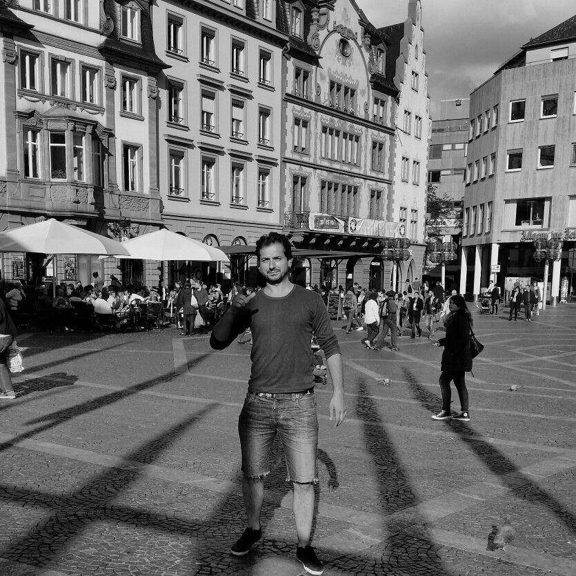 Ermand Mertenika in Mainz Stadt.Germany Black and