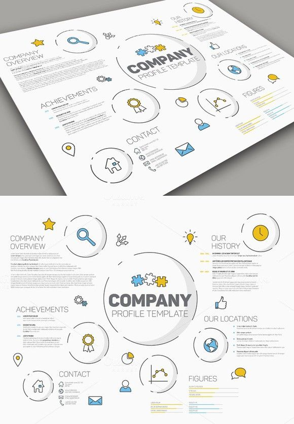 Business Company Profile Report And Brochure Layout Template Stock