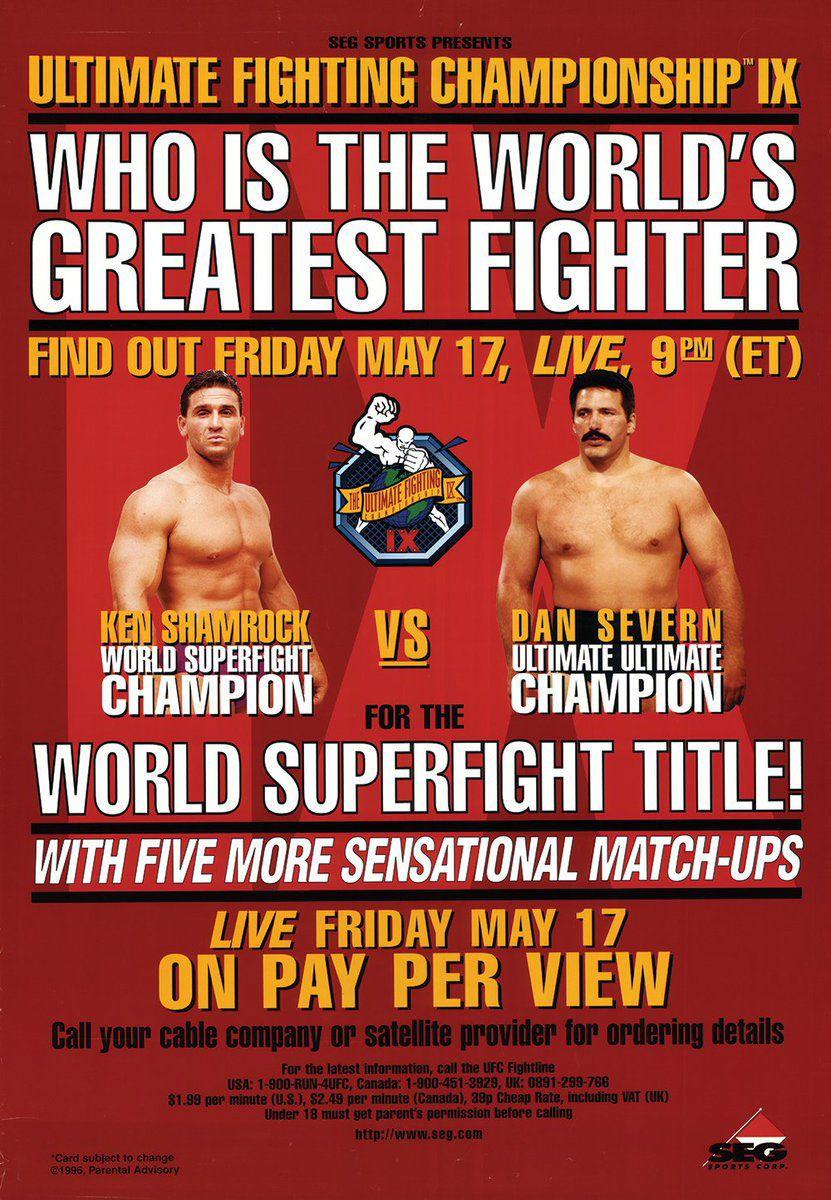 UFC 9 MOTOR CITY MADNESS en 2020 Ufc