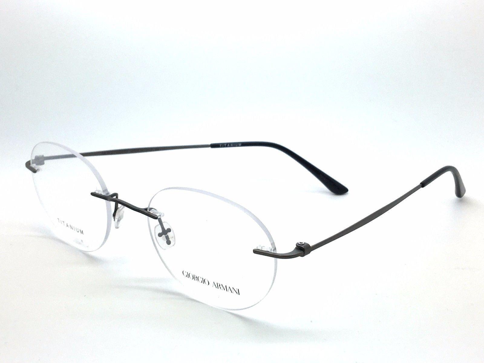 4e29927e291 Giorgio Armani RIMLESS Gunmetal Titanium Eyeglass Frames AR 5004-R-T 3003  170A