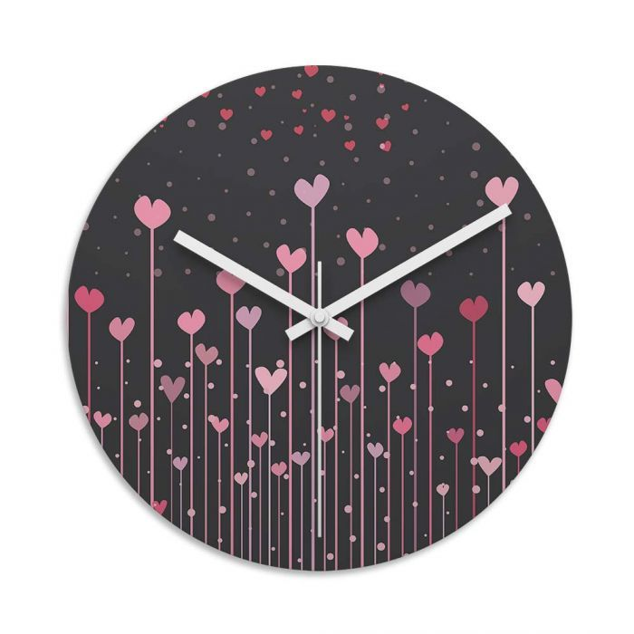 Love Heart Sticks Glass Wall Art Clock. Toughened Glass Wall Clock Are  Perfect For Homes