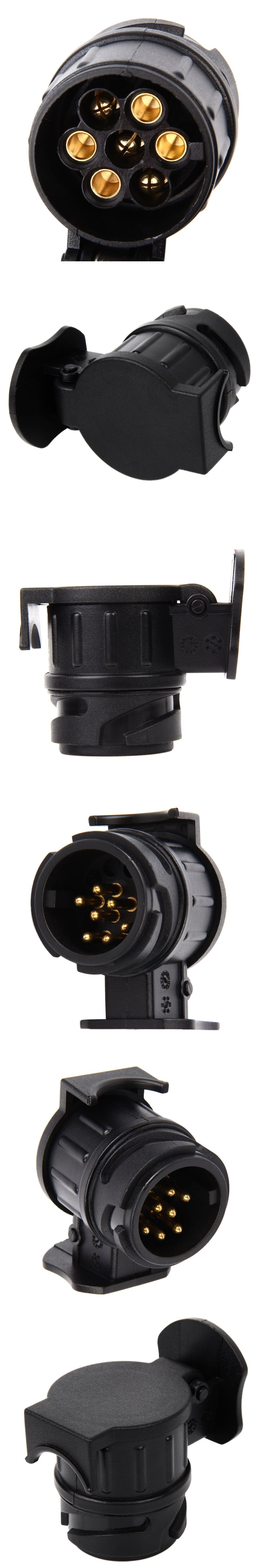 13 To 7 Pin 12v Trailer Adapter Frosted Materials Wiring Connector Fitting As On Most Caravans Trailers