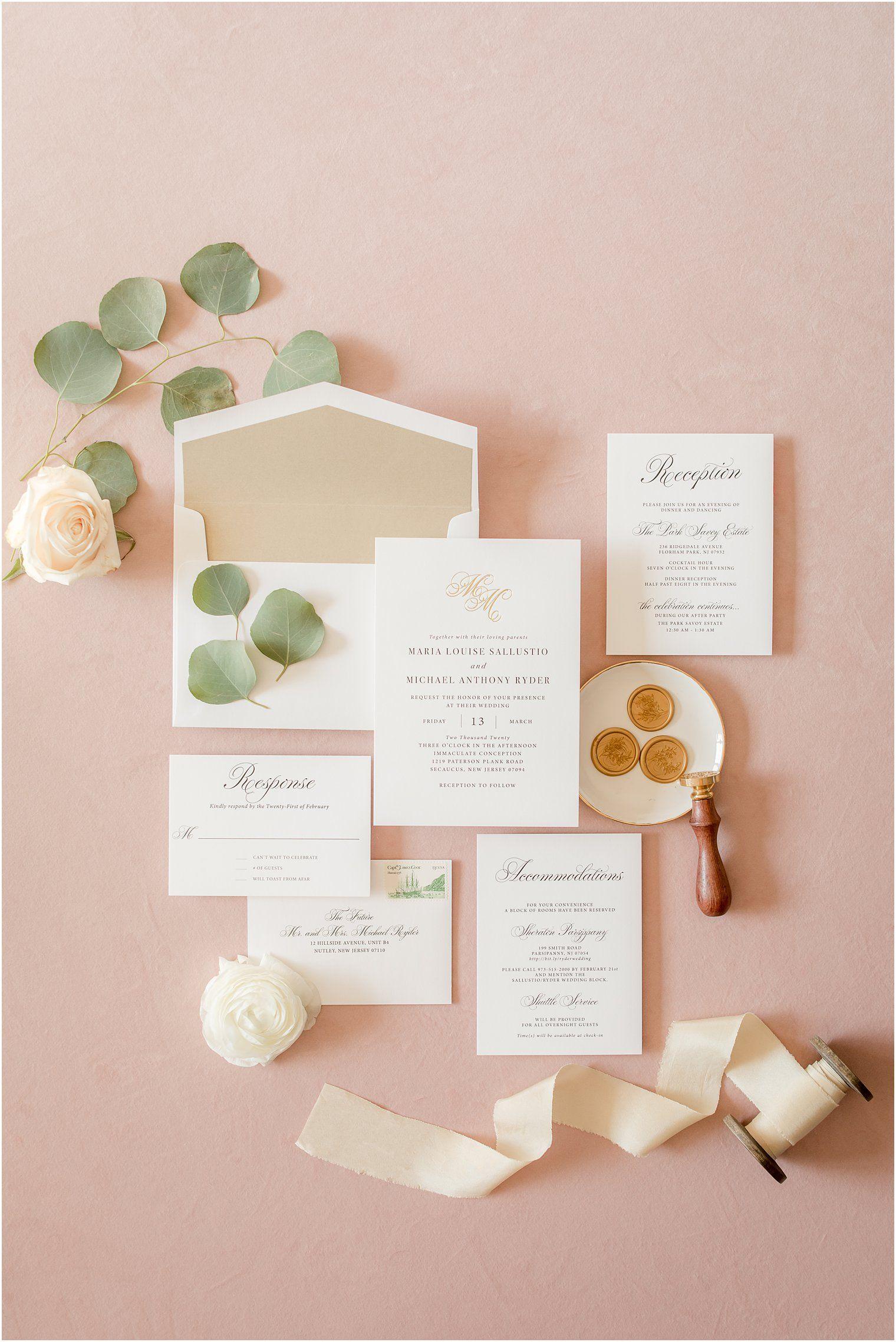 5 Tips For A Beautiful Wedding Invitation Flat Lay Nj Wedding Photographer Idalia Photography In 2020 Wedding Invitations Gold Wedding Invitations Beautiful Wedding Invitations
