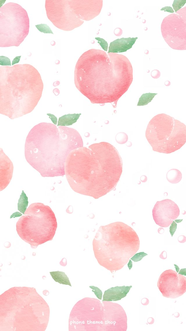 Peaches In 2019 Peach Wallpaper Cute Wallpapers Pattern