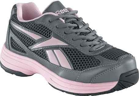 26fb4ab2b03 Reebok RB164 Women s Key Player Pewter Pink Cross Trainer Steel Toe Shoe 12  W US Reebok.  75.00