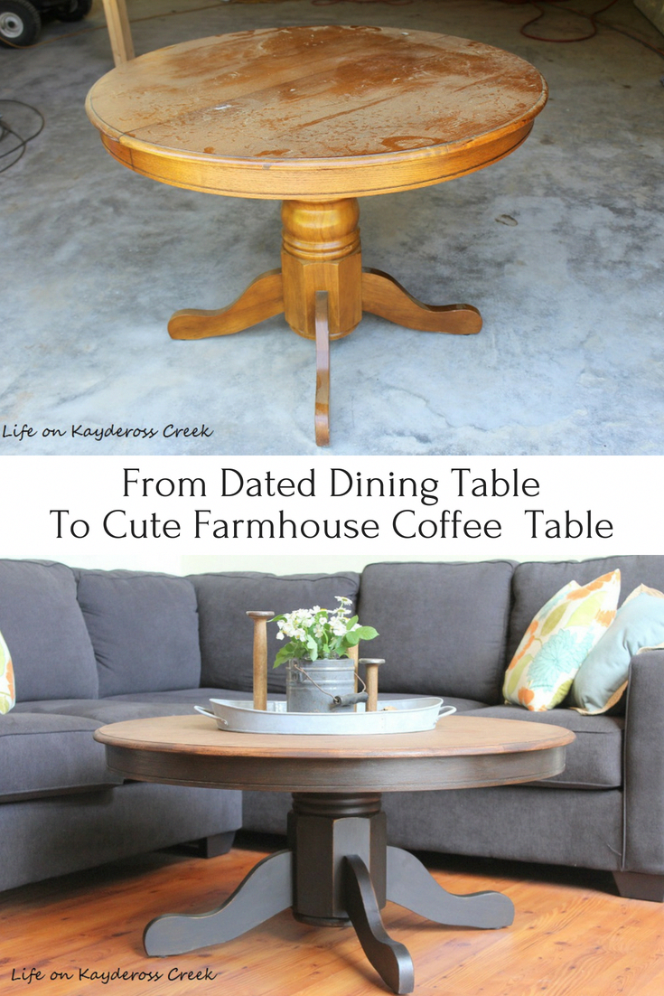 How To Transform An Old Dated Dining Table Into A Cute Round