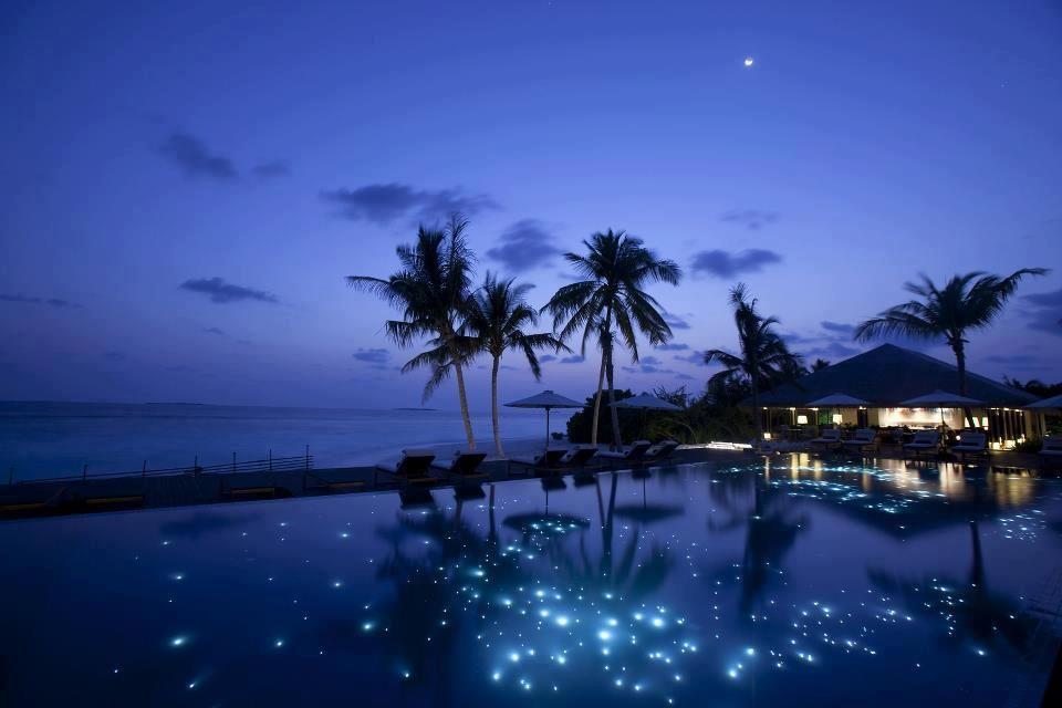 Heaven Beach At Night Maldives Beach Beach Wallpaper