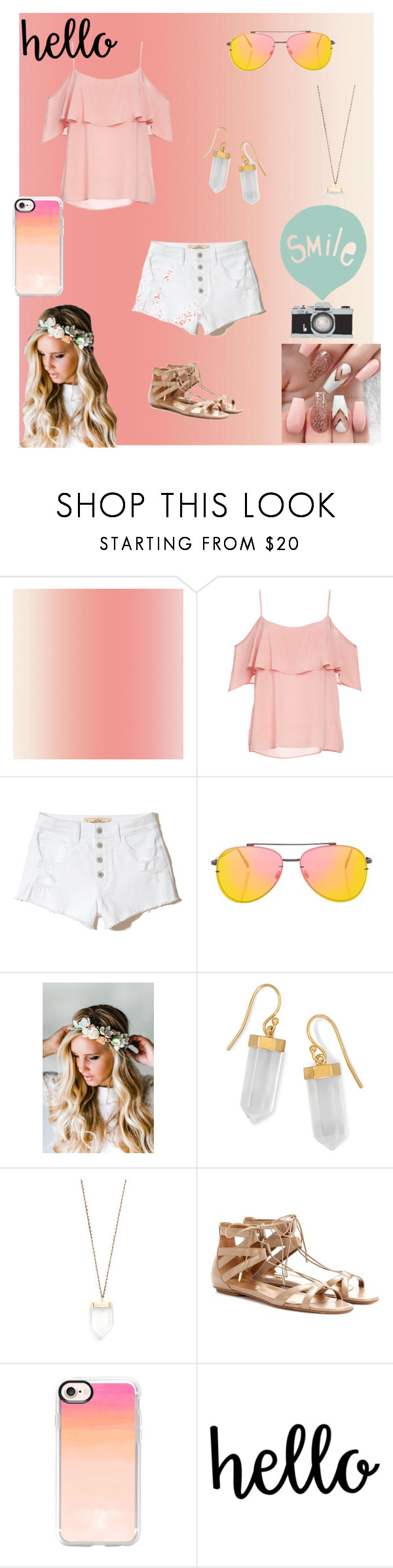 Sunset Pink By People Are Annoying Liked On Polyvore Featuring