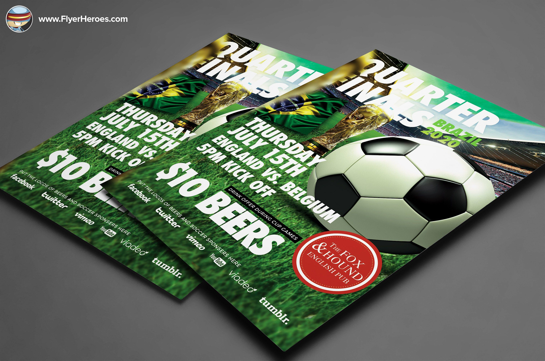 Soccer Flyer Template By Flyerheroes On Creativemarket  Rrr