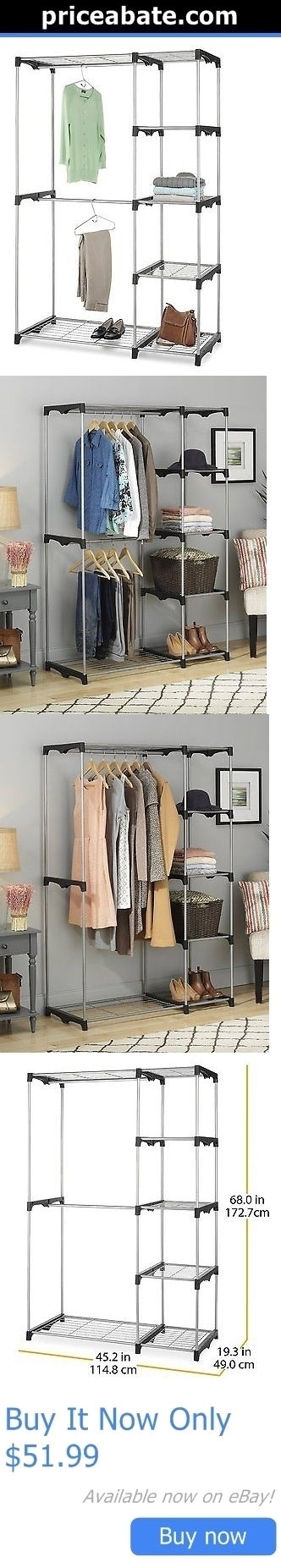 Household Items: Whitmor Closet Organizer Systems Wardrobe Storage Rack  Clothes Shelf Hanging Rod BUY IT