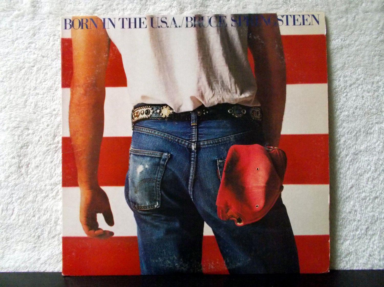Bruce Springsteen Born In The U S A Original 1984 Vinyl Lp 33 With Lyric Sheet 7 Top Ten Singles Cover Bruce Springsteen Vinyl Records Vinyl Record Album