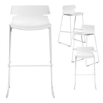 Chaise Haute Blanche Design DOFUS Lot De 4