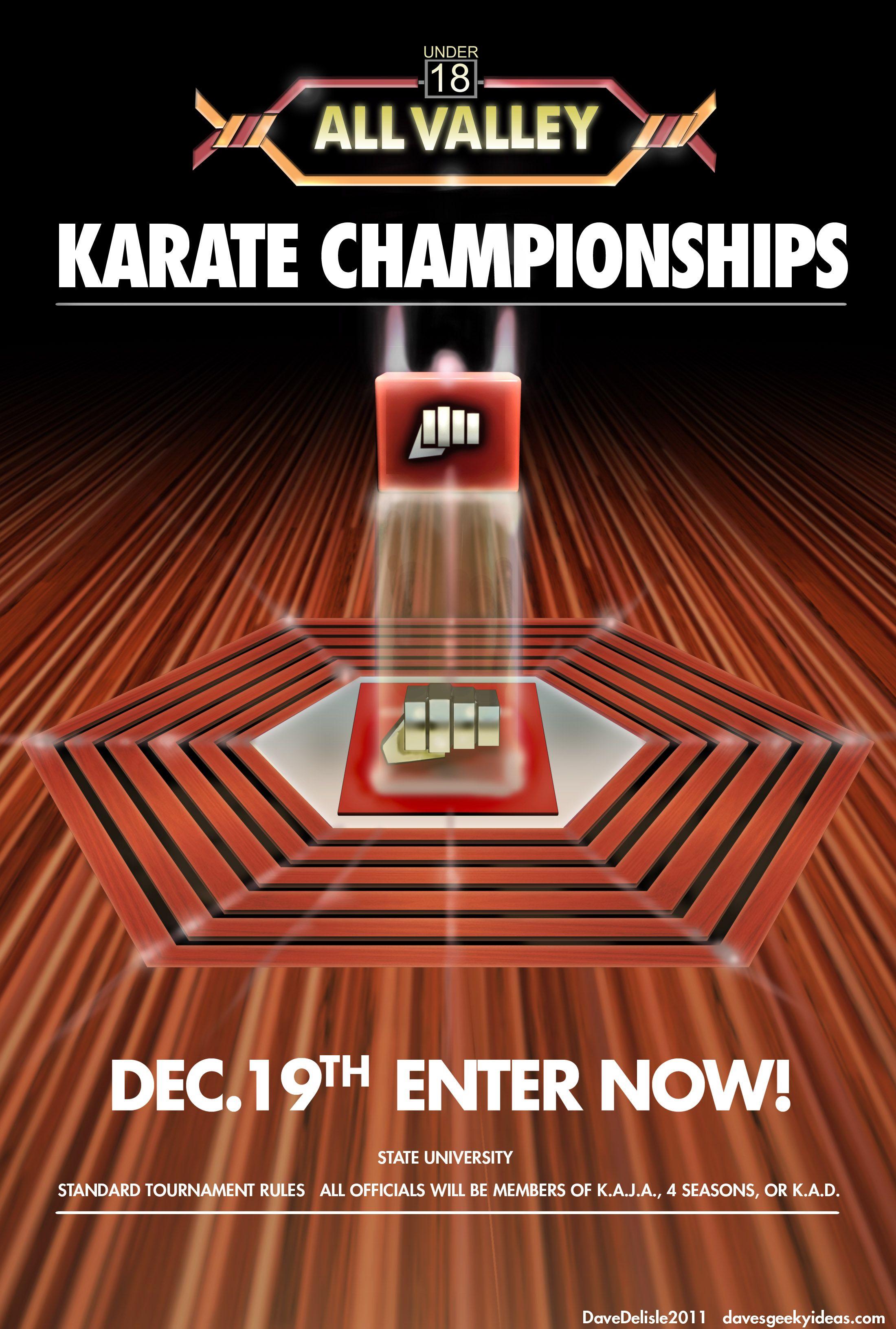 Karate-Kid-Tournament-Poster-All-Valley-Large-1984-2011 ... Karate Kid 1984 Poster