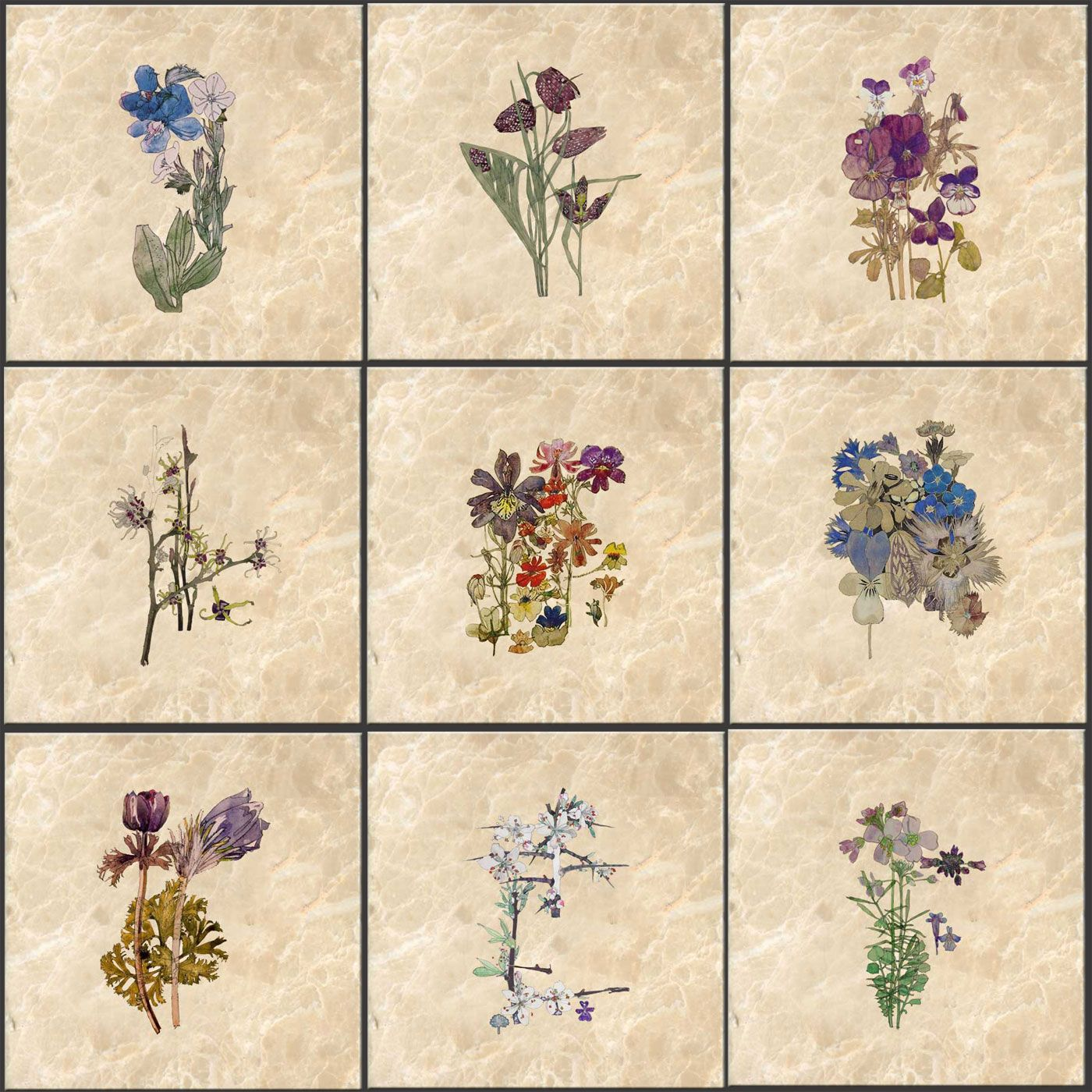 Pinned for later from WilliamMorrisTile.com Charles Rennie Mackintosh Flowers, Arts and Crafts , Glasgow Arts and Crafts