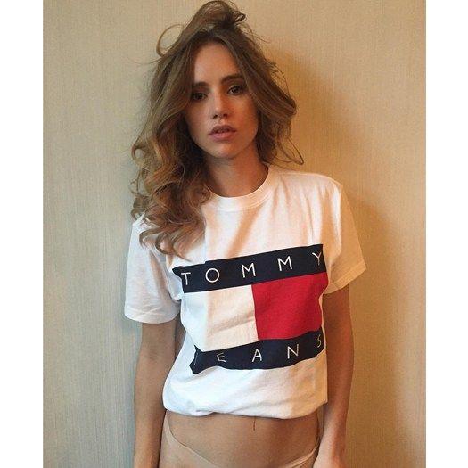 9e4c748a58f Shop Suki Waterhouse s Tommy Hilfiger Jeans T-Shirt On Instagram ...