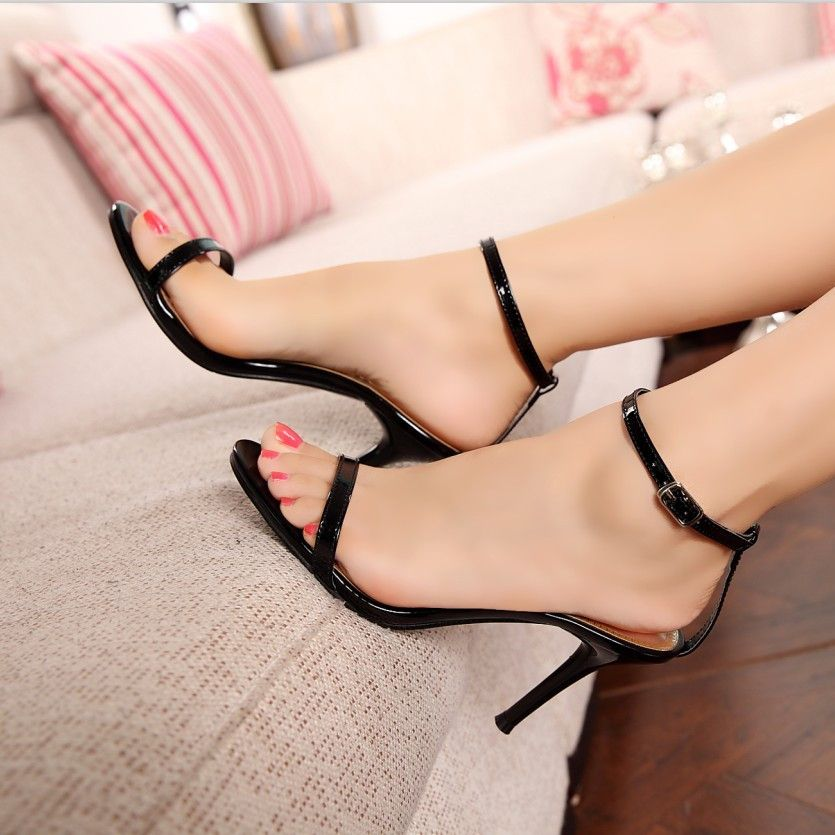 Fashion Sexy Concise One Strap High Heel Sandals 10960512
