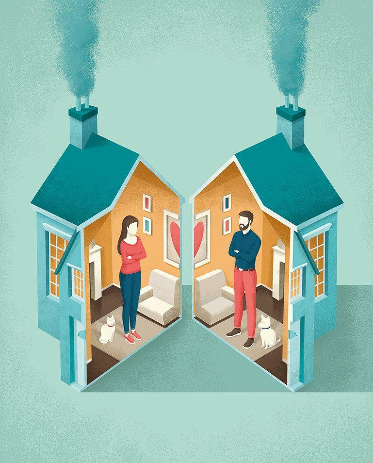 London Magazine   Article About Divorce   Andrea De Santis   Conceptual  illustration, Editorial illustration, Illustration