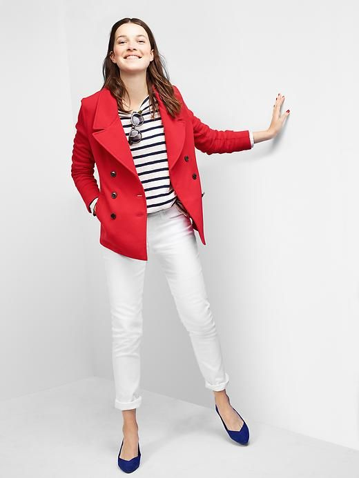 Red denim jacket old navy