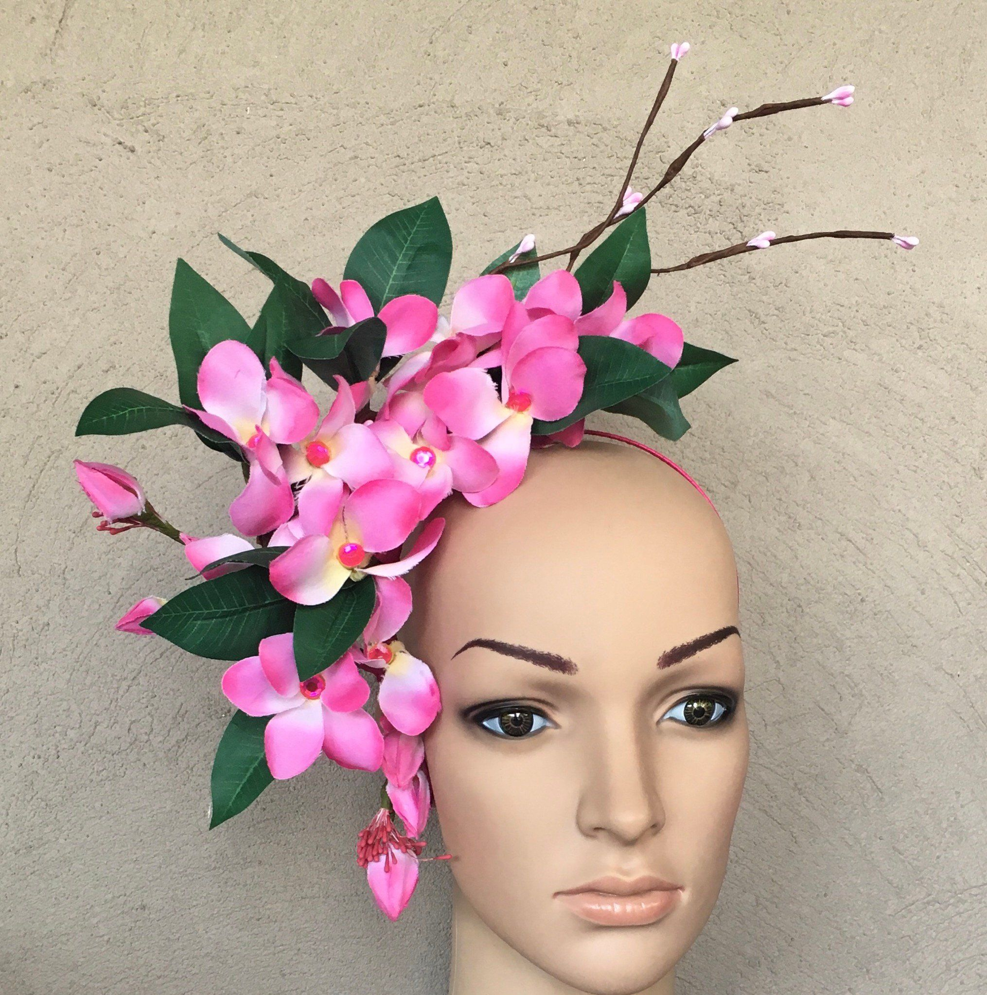 Pink flower fascinator lightweight and easy to wearone size fits pink flower fascinator lightweight and easy to wearone size fits allfree standard postage in australia postage outside australia at buyers costthis mightylinksfo
