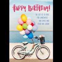 Happy Birthday! Die Zeit ist zu kurz für Langeweile - Hab Spass und Feier das Leben!
