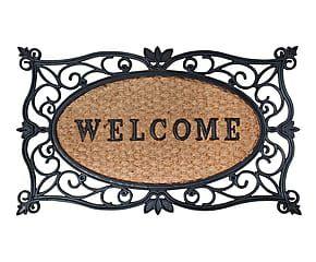 Felpudo de hierro fundido Welcome - 58,2x34 cm