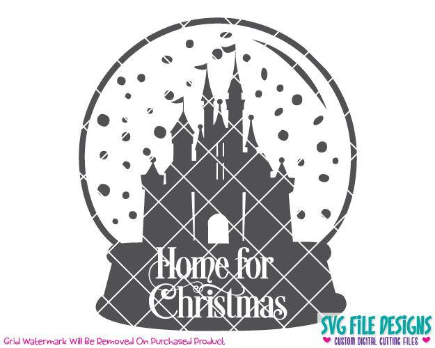 Cricut Cut Files SVG File clipart Scrap booking Crafting Silhouette Cut Files Disney/'s Silhouette Castle with Monogram Circle