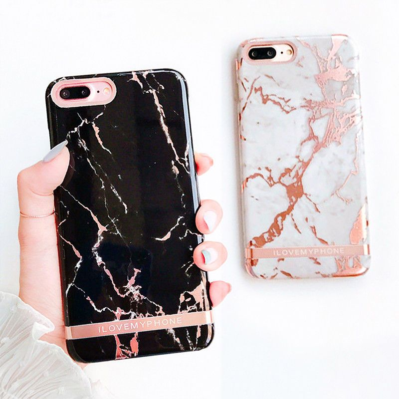 Luxury Marble Gold Bar Protertive Hard Cover Phone Case