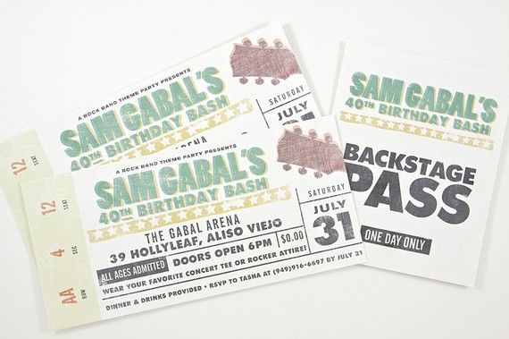 Doc590443 Invitations That Look Like Concert Tickets Any Bees – Concert Ticket Invitations