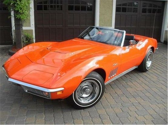 1969 Orange Chevrolet Corvette by Janny Dangerous