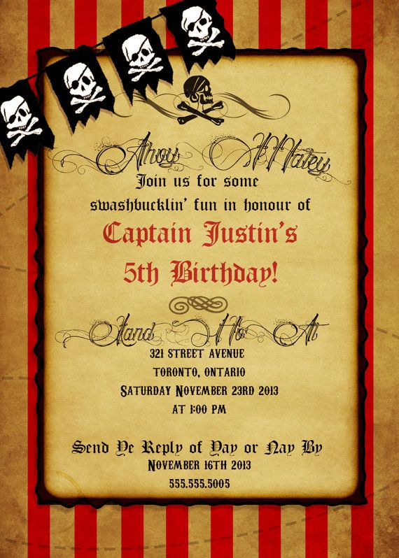 Pirate Birthday Theme Party Package // by LittleTinspirations